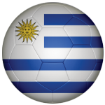 Uruguay Football Flag 58mm Button Badge